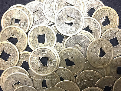 Lucky Chinese FENG SHUI Coins - Chinese Lucky Fortune - Made of Brass -Lot of 10