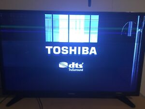"Broken 32"" Toshiba Tv (For Parts)"