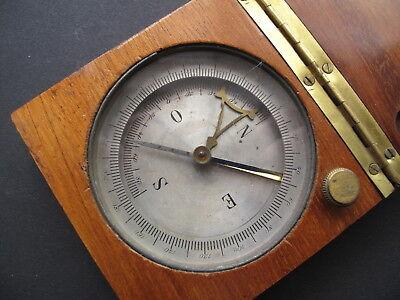 Kompass englischer Geometerkompass Grubenkompass ca. 19 Jh.