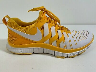 Nike Free Trainer 5.0 TB Athletic Training Shoe Yellow White Mens Size 10. D172