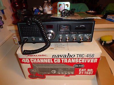 Realistic Navaho SSB + AM 40Ch. Base/Mobile CB Radio model TRC-458, Vintage!