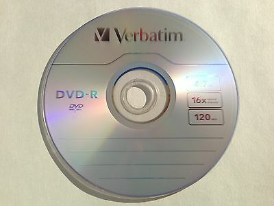 Verbatim 16X DVD-R 4.7gb Logo - Branded 50pcs Disc 97493 Pla