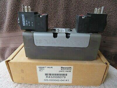 New Rexroth Bosch R432006079 3 Pos 5 Port Ceram Solenoid Valve 150 Max Psi