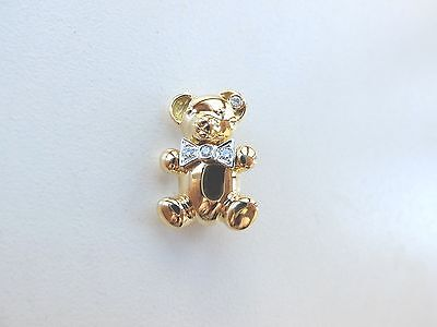 Brosche TEDDY besetzt mit Brillanten von zus. 0,09 ct in 750 Gold