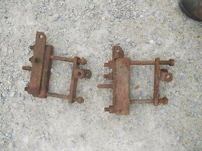 Farmall H Super H Sh Ih Tractor Original Axle Brackets For Cultivators