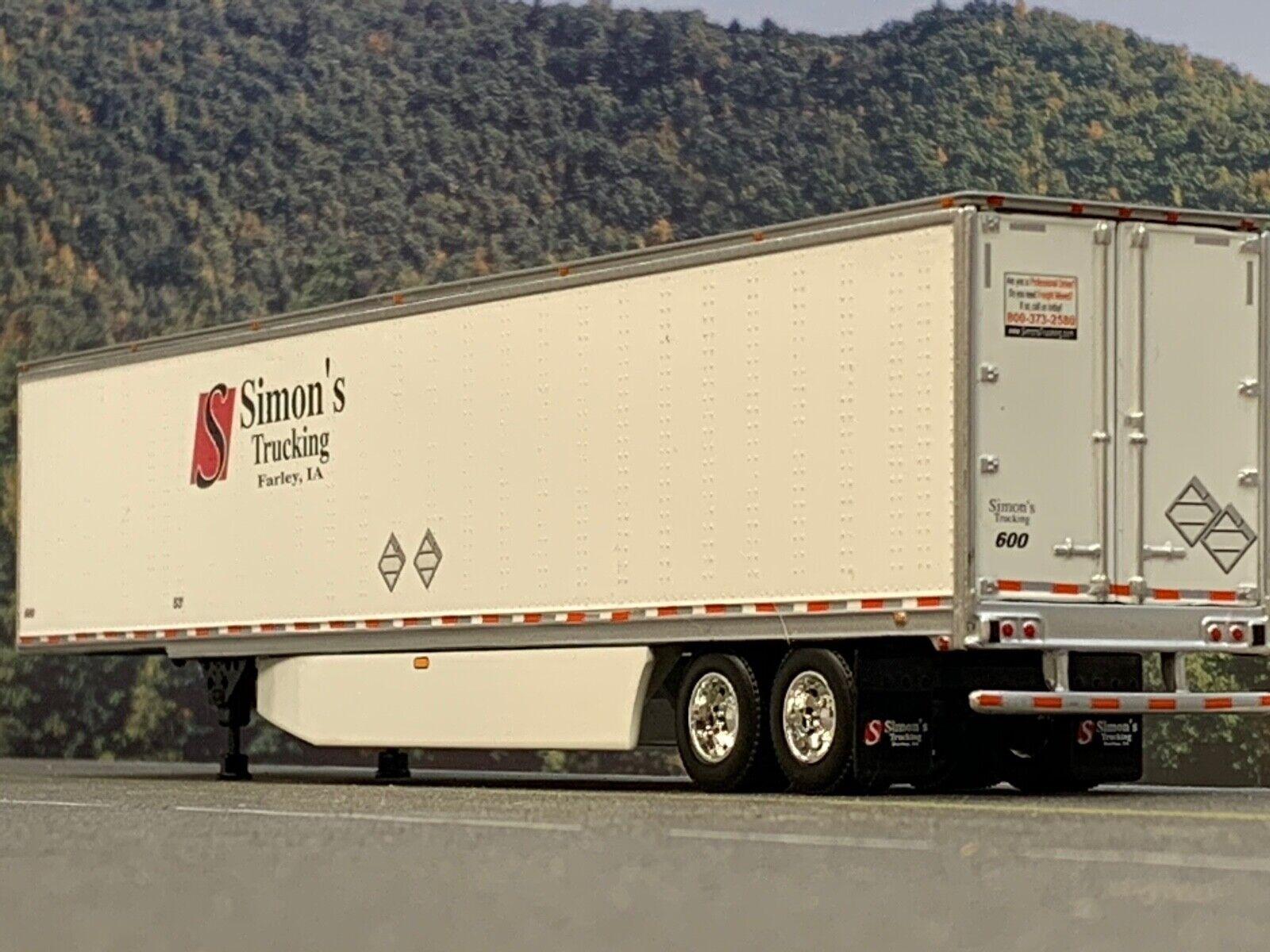 1/64 DCP SIMON'S TRUCKING  53' UTILITY 3000D-X DRY VAN TRAILER W/ WIND SKIRTS 1