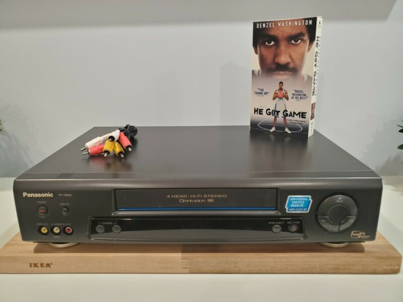 PANASONIC PV-7665S VHS VCR Tape Player Tested! Free Shipping! *No Remote*
