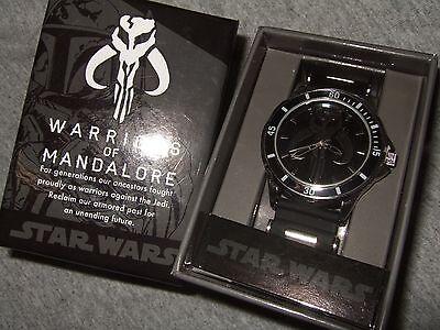 Men's Star Wars Warriors of Mandalore Boba Fett Bounty Hunter Wrist Watch Disney