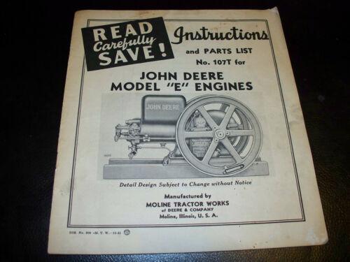 1945 John Deere Model E Engines Operator