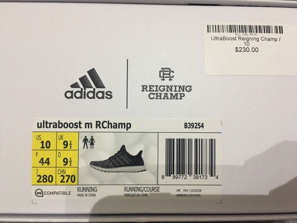 8923d5d54984c Reigning Champ Ultra Boost 1.0 Size 10