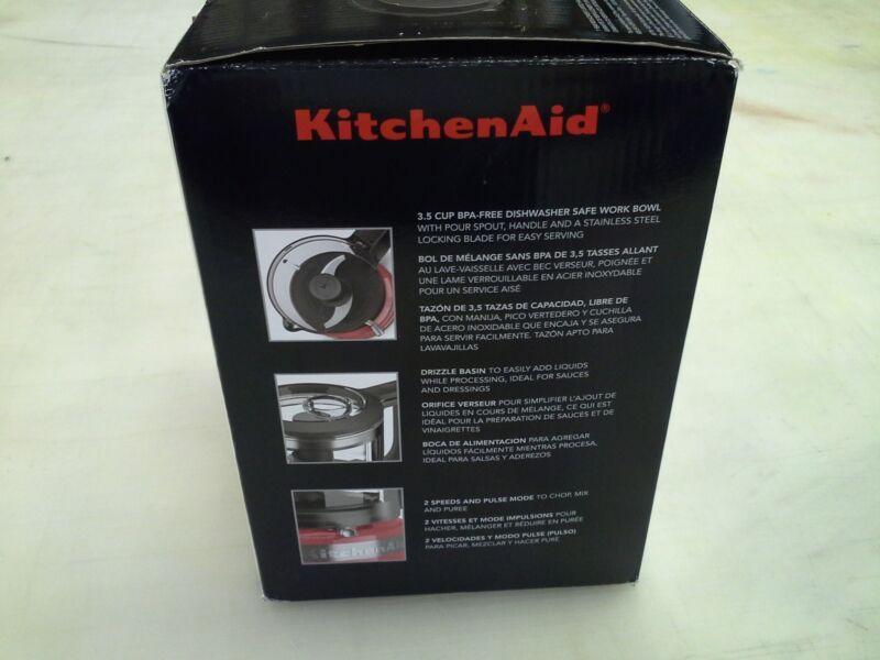 KitchenAid 3.5-Cup Mini Food Processor Hot Sauce KFC3516HT