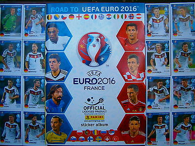 Complete Panini Road To UEFA Euro 2016 France Loose Stickers Set And Empty Album
