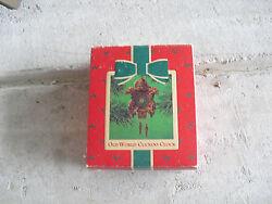 Vintage 1984 Hallmark Old World Cuckoo Clock Christmas Ornament NIB