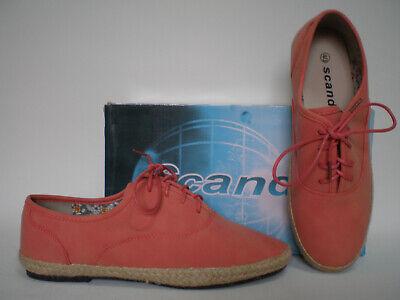 Rote Halbschuhe Schuhe (Damen Schuhe Halbschuhe Laufschuhe Schnürer SCANDI Gr. 40 rot Neu)