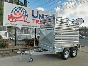 8X5 TANDEM FULLY HOT GALVANISED STOCK/CATTLE CRATE TRAILER 3500KG ATM Penrith Penrith Area Preview