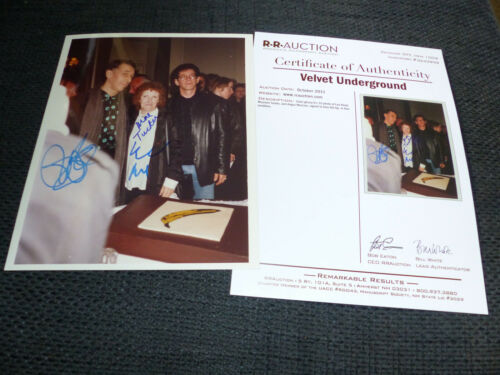 THE VELVET UNDERGROUND signed Lou Reed Moe Tucker Angus MacLise C.O.A. RRAUCTION