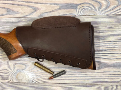 New Real Leather Buttstock Holder Butt Stock Protection Cover Cheek Rest Padded