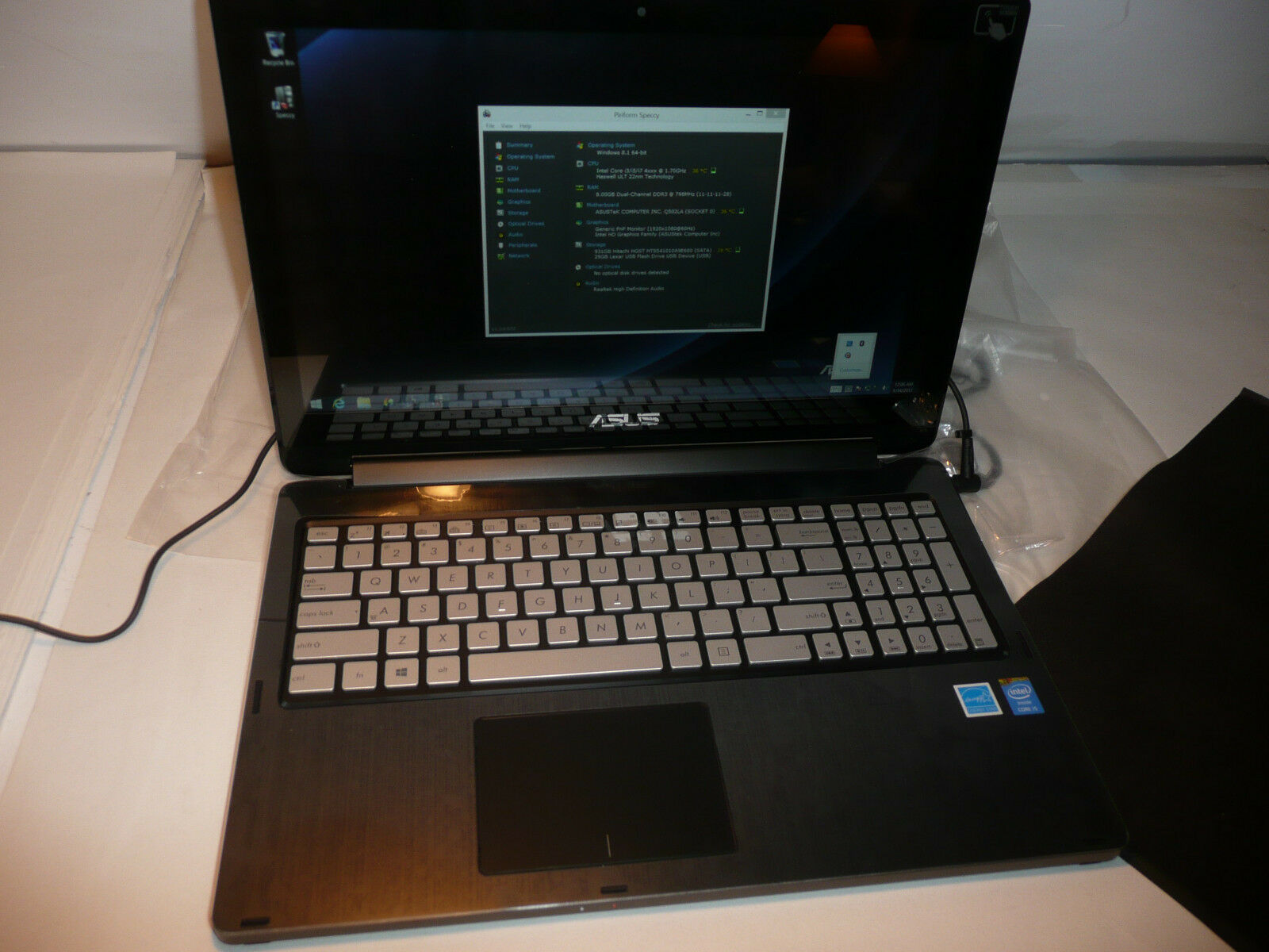 ASUS Q501LA 15.6in. (1TB, Intel Core i5 4th Gen., 1.7GHz, 8GB) Notebook/Laptop