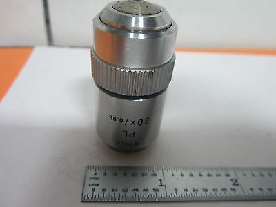 Microscope Objective Leitz Wetzlar Germany Pl 80x Optics Bink9-70