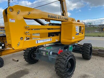 New 19 Haulotte Ha46rtj Pro Articulating Boom Lift Man 46 Height Kubota Diesel