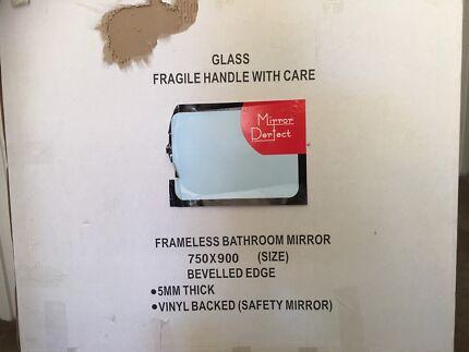 Framelees bathroom mirror