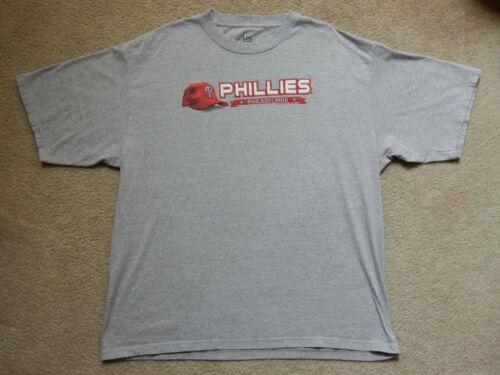 Philadelphia Phillies T Shirt Xxl Lee Sport Gray 2007 Preowned Excellent