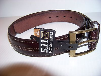 NEW 5.11 TACTICAL SERIES STRAP LEATHER BROWN BELT SIZE 32 - 34  EXCELLENT NEW ()
