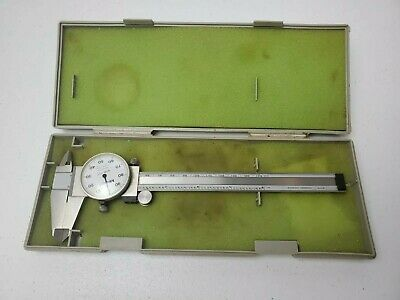 Mitutoyo 6 Calipers Analog Dial .001 Indicator 505-637-50 - Japan - Stainless