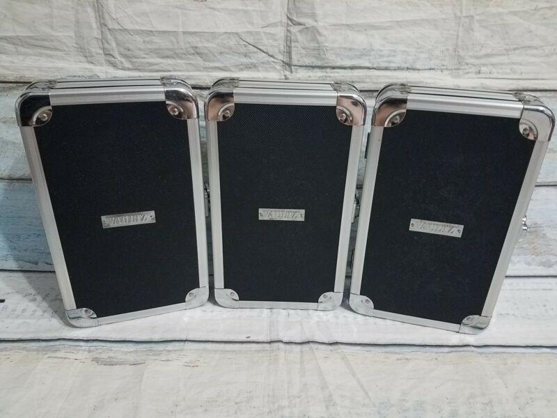 "3x Vaultz CD DVD Case Storage Portable 48 CD Capacity 11""x6"" hardcase wallet"