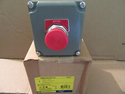 Square D Emergency Stop Control Station Mushroom Button