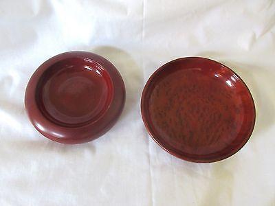 Set of 2 California Redwood Mini Round Trays