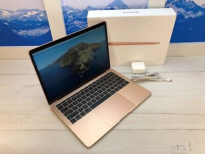 "Apple MacBook Air Touch ID 2019 13"" Laptop 128GB 8GB RAM Gold w/Box nf3"