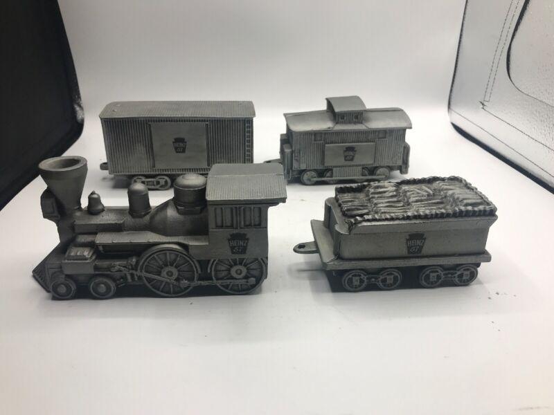 Heinz 57 Metal Train Bank 4 Piece Set 1974 Banthrico