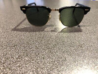Ray Ban Clubmaster Schwarz Sonnenbrille Original Retro