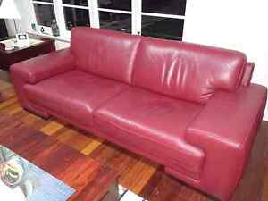 Leather Lounge Suite - Sofa South Perth South Perth Area Preview