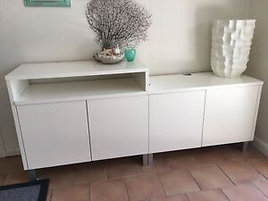 White TV / Side Board Cabinet North Narrabeen Pittwater Area Preview