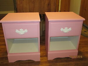 Pink and White Night Stands