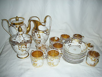 OLD PARIS PORCELAIN TEA SERVICE, 23 PIECES