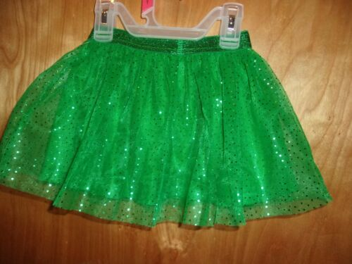 GIRLS SIZE 18 MONTHS  NEW NWT GREEN SPARKLE SKIRT CHRISTMAS & ST PATRICK
