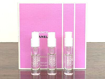 3x Chanel Chance Eau Fraiche EDT Spray Perfume Samples 005oz 15ml EACH NEW