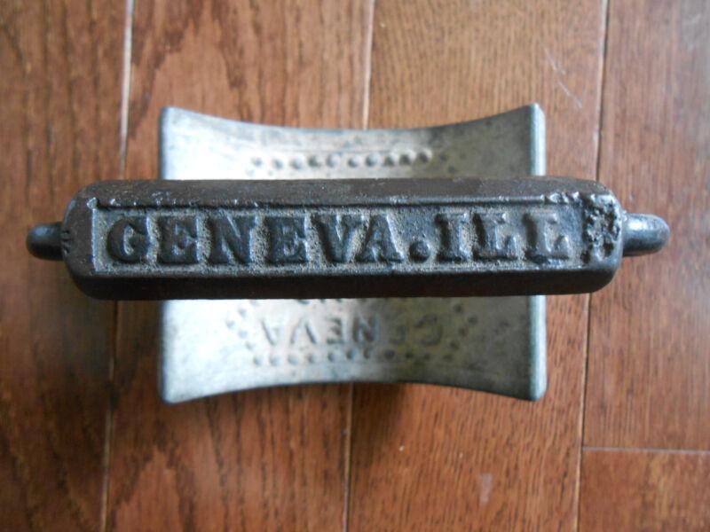 Antique Patent 1866 Geneva, IL Hand Fluter