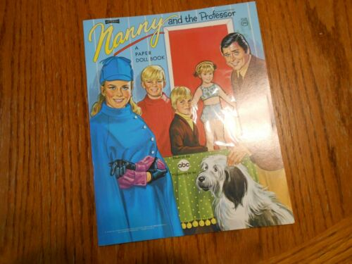 1971 Artcraft- Nanny and the Professor Paper Doll Book 5114 Pristine