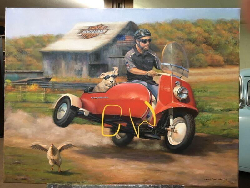 "Fine art prints, Harley Davidson - ""Topper"""