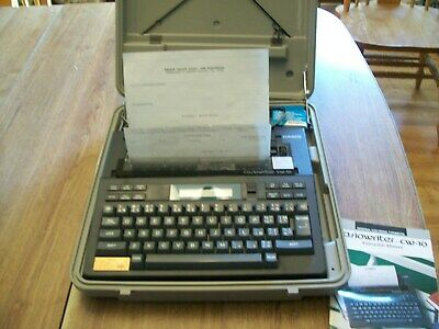 Casio Writer Cw10 Letter Perfect Electronic Typewriterword Processor
