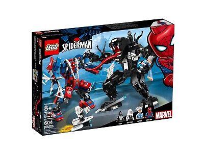 NEW SEALED LEGO SUPER HEROES SPIDER MAN MECH VS VENOM GHOST 4 MINIFIGURES 9/10
