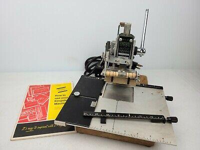 Vintage Kingsley Hot Foil Stamping Machine M-50 Bundle Defective