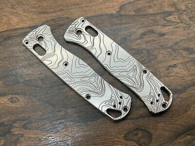 TOPO Custom Engraved Custom Titanium Scales for Benchmade Bugout 535 Knife USA