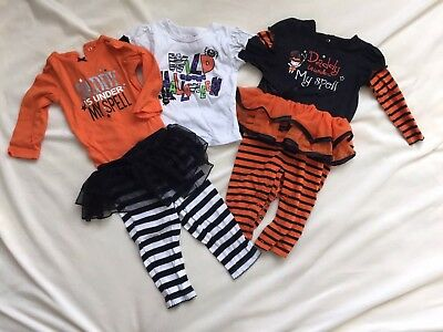 Lot Of 4 Carter's Halloween Girl Outfits Size 9 Months Tutu Pants •CUTE•🎃](Cute Girl Halloween Outfits)