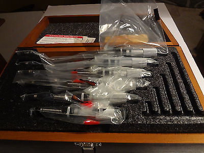 Starrett S436cxrlz 0-150mm Micrometer Set Brand New
