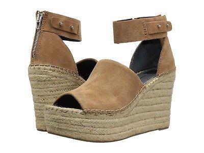 Women's Shoes Dolce Vita Straw Platform Wedge Espadrille Sandals Dark Saddle - Platform Saddle Shoes